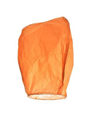 Obrázek Lampion štěstí - oranžový