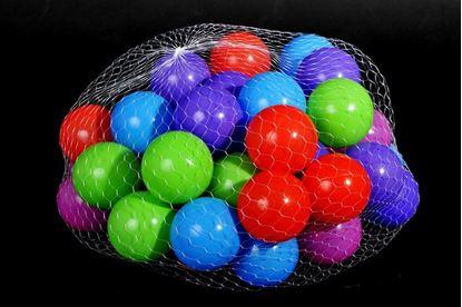Obrázek Plastové míčky 100 ks (5,5 cm)