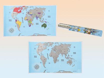 Obrázek Stírací mapa světa