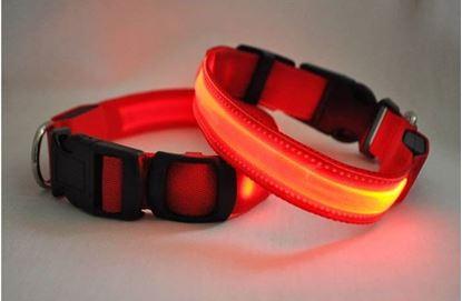Obrázek Svítící obojek - červený XS