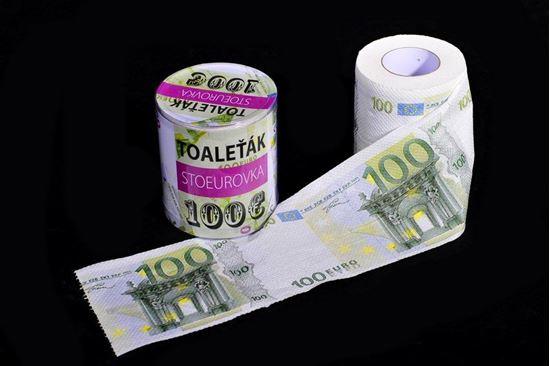 Obrázek z Toaletní papír - 100 Eurovka