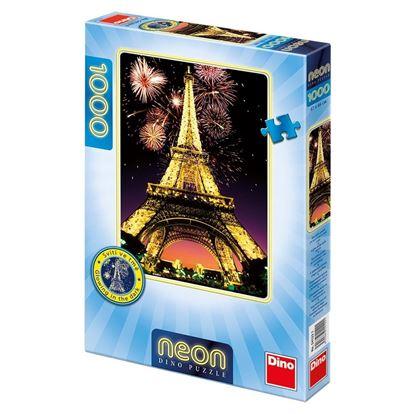 Obrázek Puzzle 1000 - Noční Eiffelovka - svítící