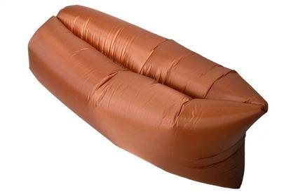 Obrázek Nafukovací vak Lazy bag jednovrstvý - hnědý