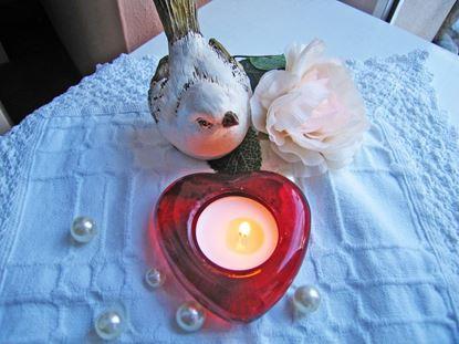 Obrázek Svícen ve tvaru srdce