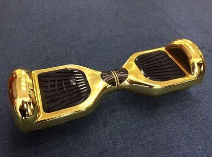 "Obrázek Hoverboard DELUXE 6,5"" (gold metal) - značková baterie"