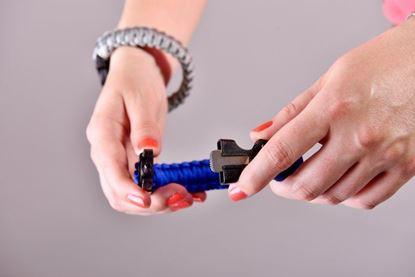 Obrázek Náramek přežití - modrý