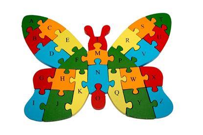 Obrázek Vzdělávací dřevěné puzzle - motýl