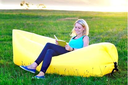 Obrázek Nafukovací vak Lazy bag jednovrstvý - žlutý