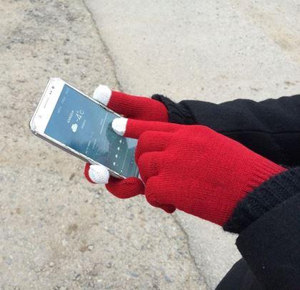 Obrázek z Dotykové rukavice - pletené