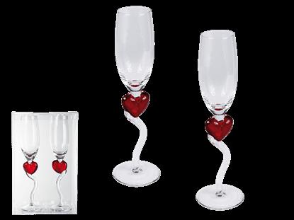 Obrázek Zamilované skleničky na šampaňské - set