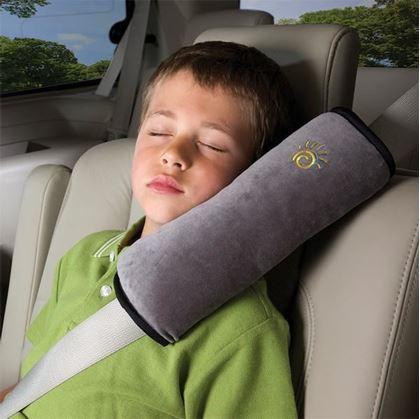 d5d167f5f67 Obrázek z Cestovní polštář do auta na pás - šedivý