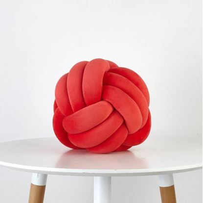 Obrázek Designový polštář - červená