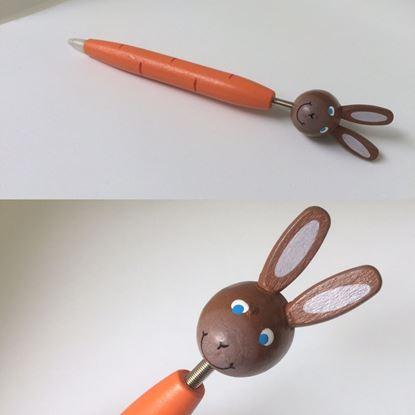 Obrázek Dřevěné kuličkové pero - králíček