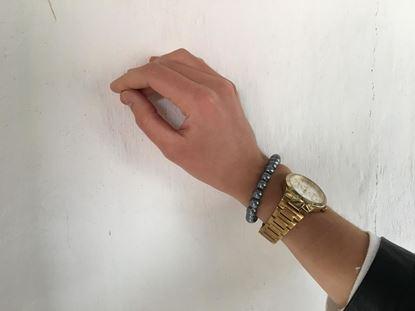 Obrázek Perlový náramek Dala - šedý
