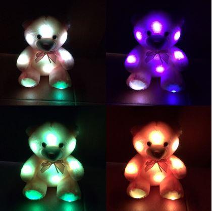 Obrázek z Svítící medvídek - růžový