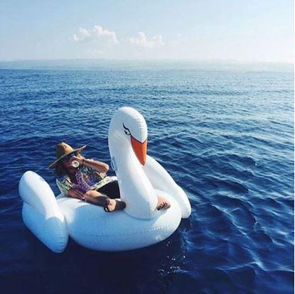 Obrázek Nafukovací lehátko Bílá labuť
