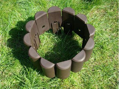 Obrázek Plastová půlkolíková palisáda 2,15 m