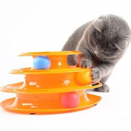 Obrázek z Hračka pro kočky - pyramida