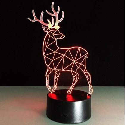 Obrázek z Lampa s 3D iluzí - jelen