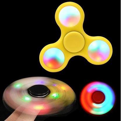 Obrázek Fidget spinner svítící - žlutý