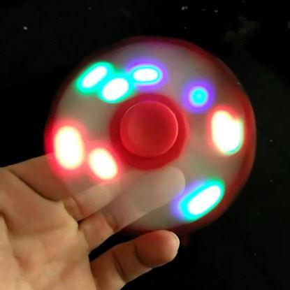 Obrázek Fidget spinner svítící - červený