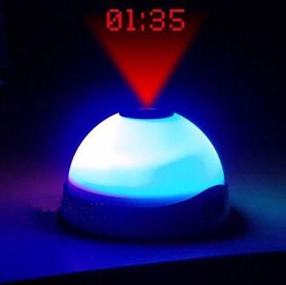 Obrázek Budík měnící barvy s projekcí času