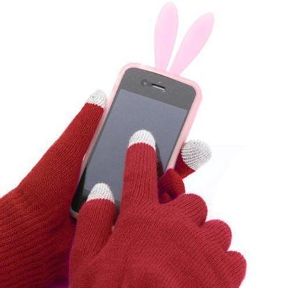 Obrázek Dotykové rukavice - pletené