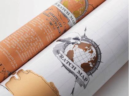 Obrázek z Stírací mapa světa - deluxe