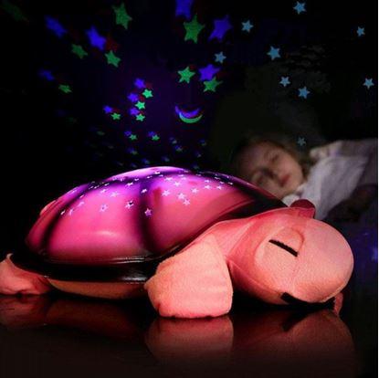 Obrázek Noční svítící želvička - růžová