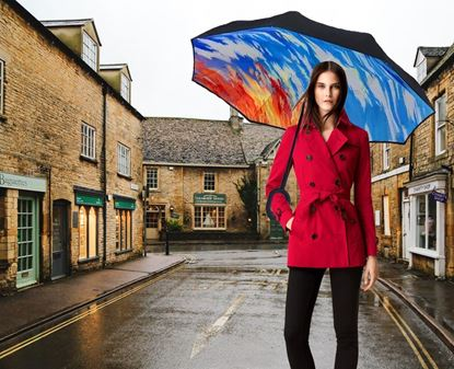 Obrázek Obrácený deštník - žíhaný
