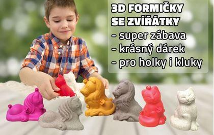 Obrázek z 3D formičky malé - mix zvířátek