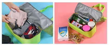 Obrázek z Plážová taška s termo přihrádkou - zelená