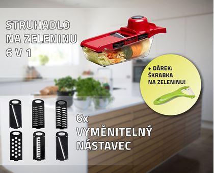 Obrázek z Struhadlo na zeleninu 6 v 1