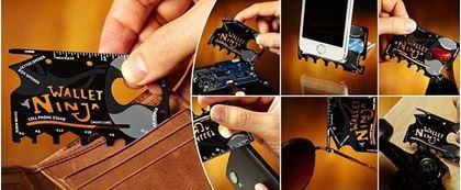 Obrázek z Ocelová multifunkční karta Wallet Ninja 18v1