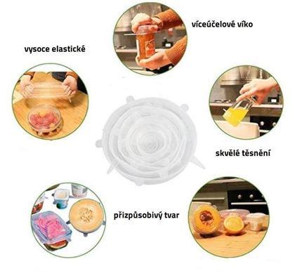Obrázek z Silikonová víčka na potraviny 6 ks