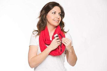 Obrázek z Šátek s kapsou - červený