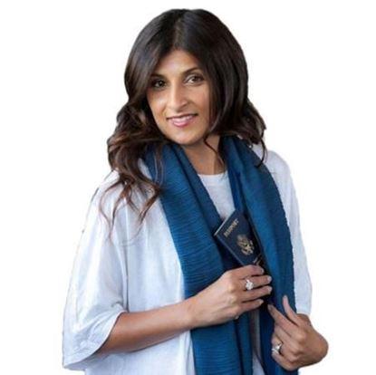 Obrázek Šátek s kapsou - modrý