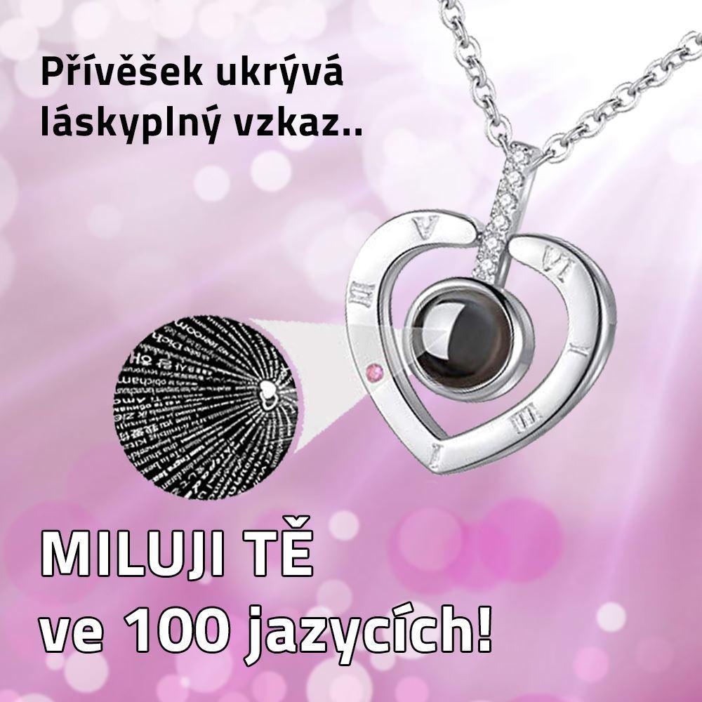 a9b104457 Řetízek - Miluji Tě 100x jinak | Darky.cz
