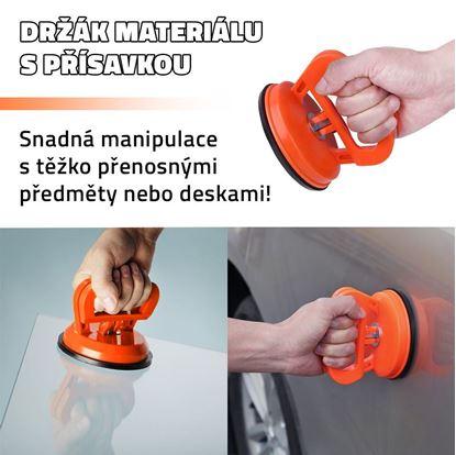 Držák materiálu s přísavkou
