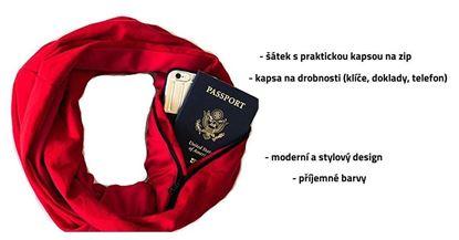 Obrázek Šátek s kapsou - červený