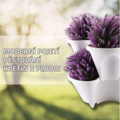 Obrázek Vertikální květináče - bílé