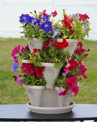 Obrázek z Vertikální květináče - bílé