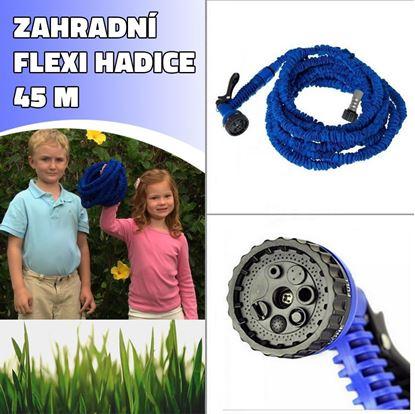 Obrázek Zahradní flexi hadice 45 M - modrá