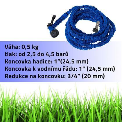 Obrázek z Zahradní flexi hadice 45 M - modrá
