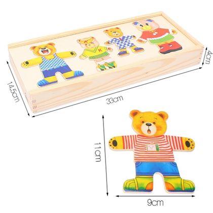 Obrázek z Medvídková dřevěná stavebnice