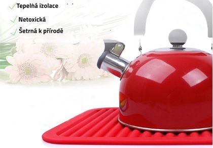 Obrázek z Kuchyňská silikonová podložka - červená