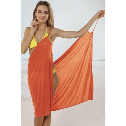 Obrázek Plážové zavinovací šaty - oranžové