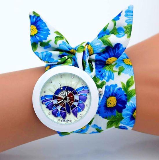 Obrázek z Hodinky Anna - Modrý motýl
