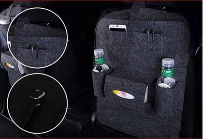 Obrázek z Pořadač na sedačku do auta - tmavě šedý