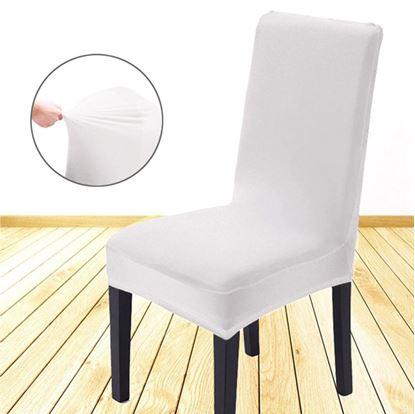 Obrázek Potah na židli - bílý - 4 ks